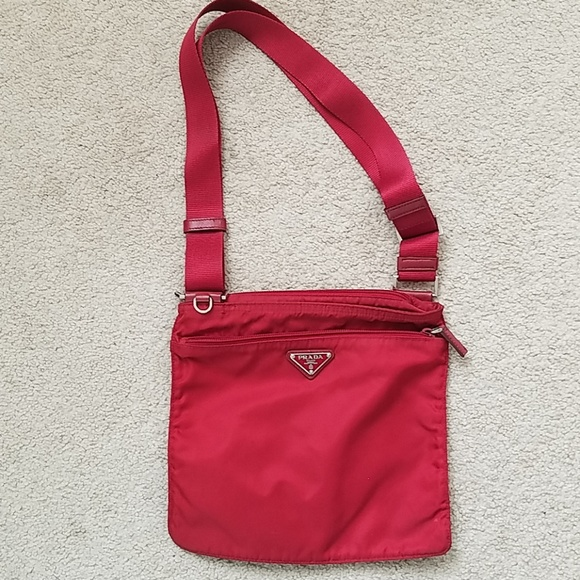 c79da8f37cb6b Authentic prada nylon crossbody bag